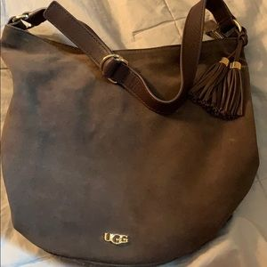 Suede leather UGG purse